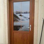 Porte double vitrage