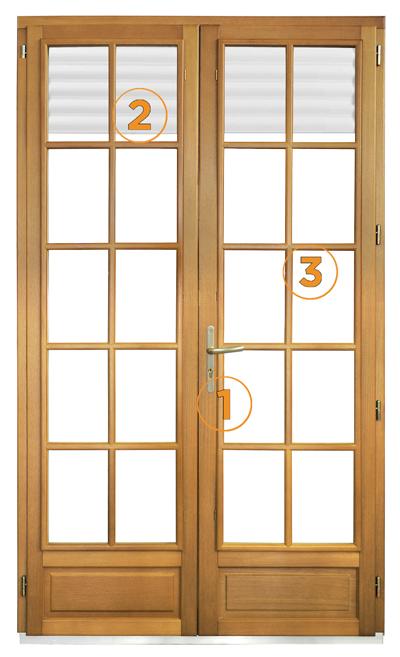 Porte fenetre bois menuiserie image et conseil for Modele porte et fenetre en bois