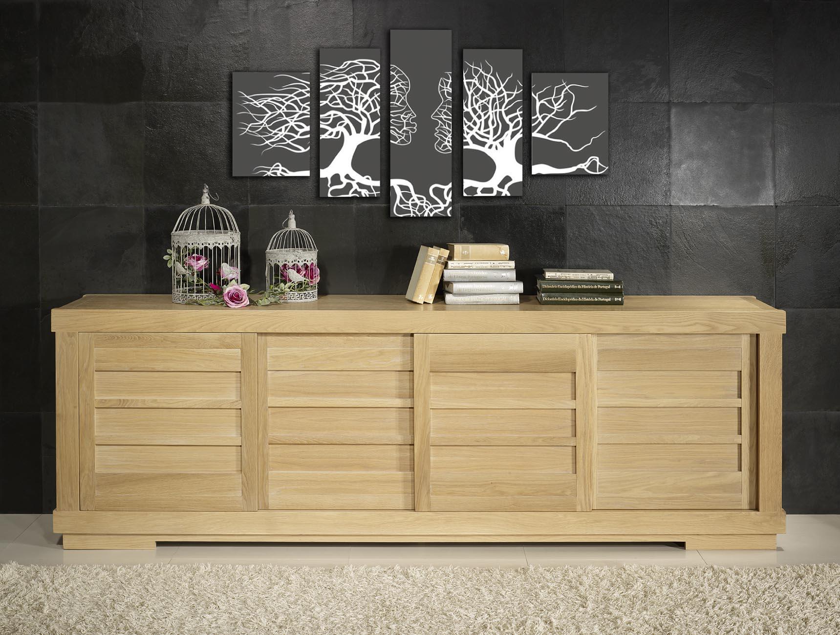 bahut 4 portes coulissantes menuiserie image et conseil. Black Bedroom Furniture Sets. Home Design Ideas