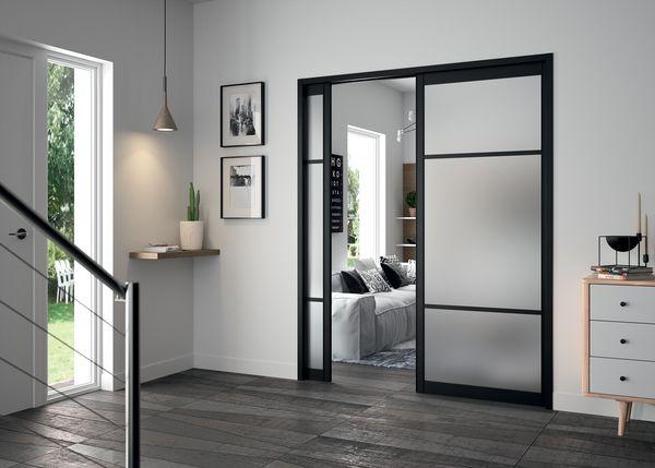 double porte coulissante interieur menuiserie image et conseil. Black Bedroom Furniture Sets. Home Design Ideas