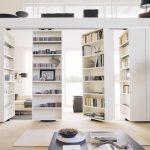 Porte coulissante bibliotheque