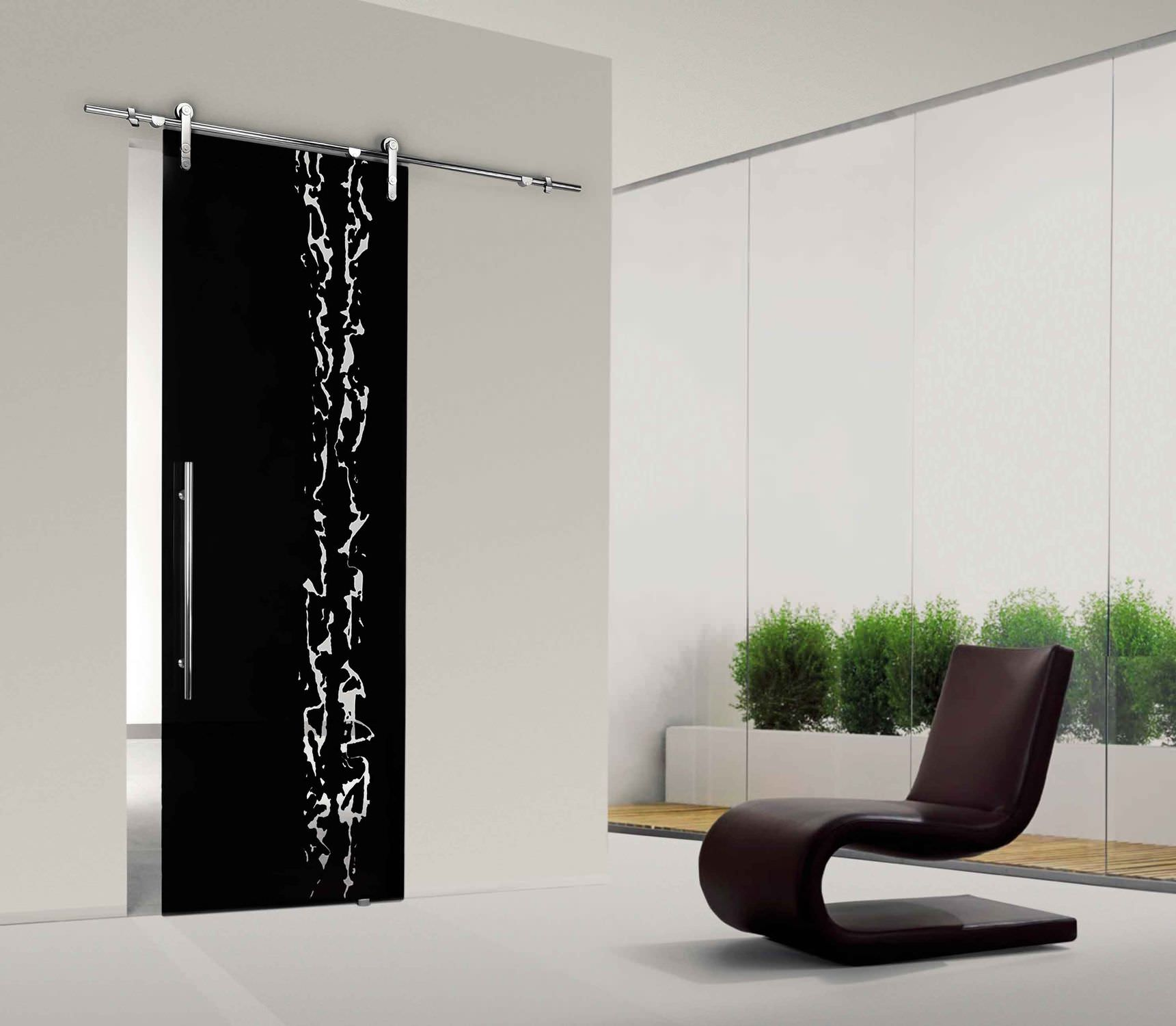 Porte coulissante en verre opaque menuiserie image et for Porte coulissante en verre pas cher