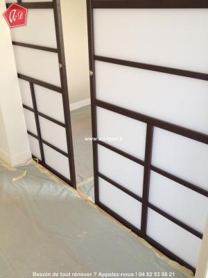 porte double coulissante en applique menuiserie image et. Black Bedroom Furniture Sets. Home Design Ideas