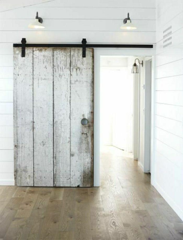 porte coulissante bois blanc menuiserie image et conseil. Black Bedroom Furniture Sets. Home Design Ideas