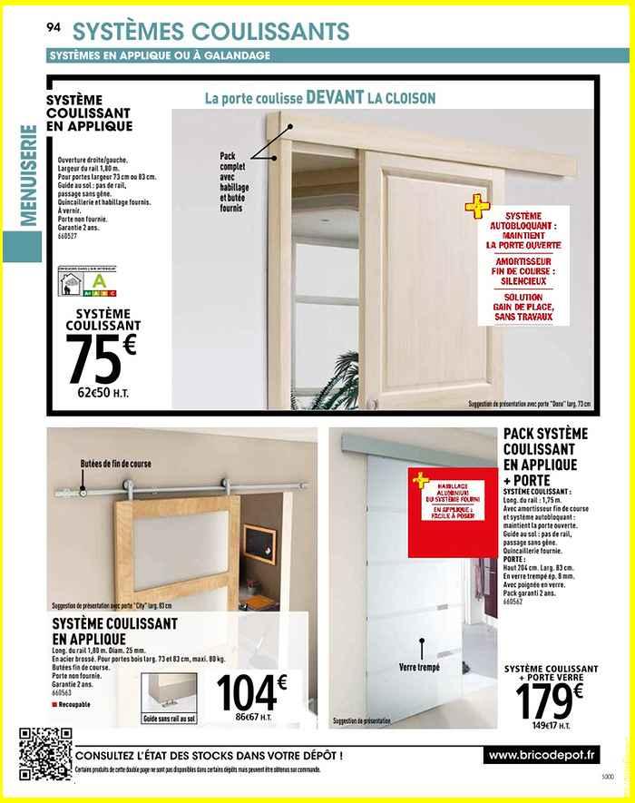 porte coulissante exterieur brico depot menuiserie image et conseil. Black Bedroom Furniture Sets. Home Design Ideas