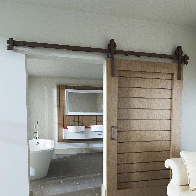porte coulissante interieur pour salle de bain. systme coulissant ... - Systeme De Roulette Pour Porte Coulissante