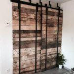 Porte coulissante bois metal